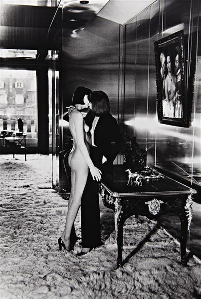 Helmut Newton-Mannequins, Quai d'Orsay, Paris-1977