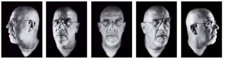 Chuck Close-Self Portrait (1-5)-2002