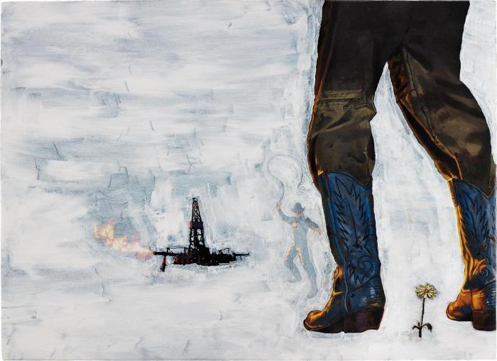 Richard Prince-Eden Rock (Oil Rig And Cowboy)-2006