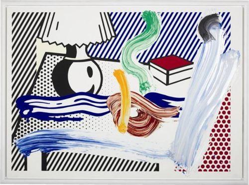 Roy Lichtenstein-Brushstroke Still Life with Lamp-1997