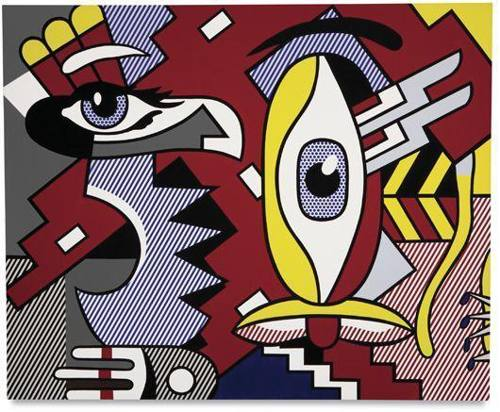 Roy Lichtenstein-Two Figures, Indian-1979