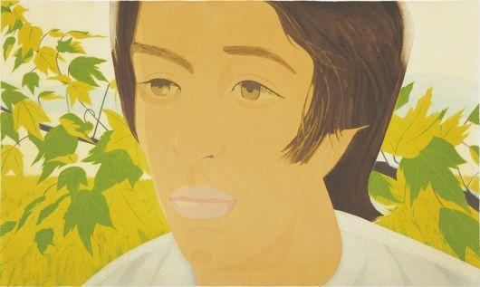 Alex Katz-Boy with Branch I (Maravell 77)-1975