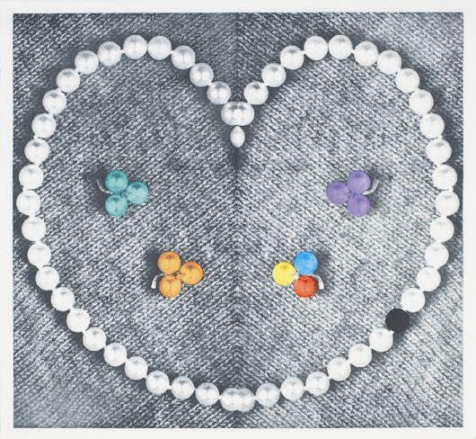 John Baldessari-Heart with Pearls-1991