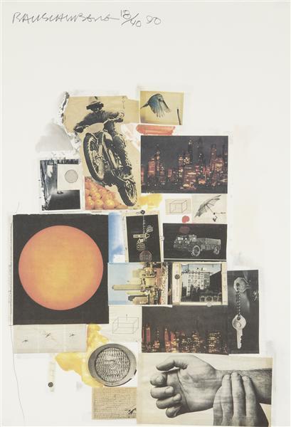 Robert Rauschenberg-Robert Rauschenberg - Untitled (Whitney Exhibition)-1990