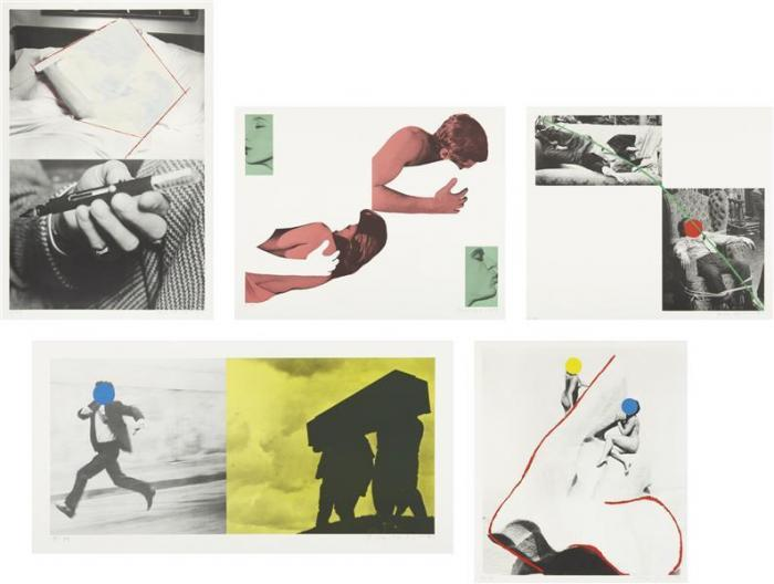 John Baldessari-A Suite of Five Lithographs for Tristram Shandy-1988