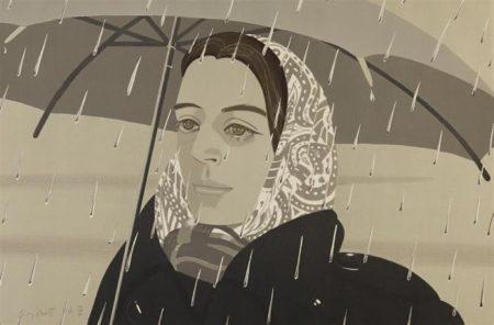 Alex Katz-Gray Umbrella (Maravell 122)-1979