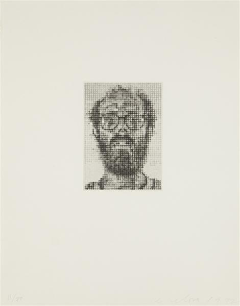 Chuck Close-Self-Portrait-1992
