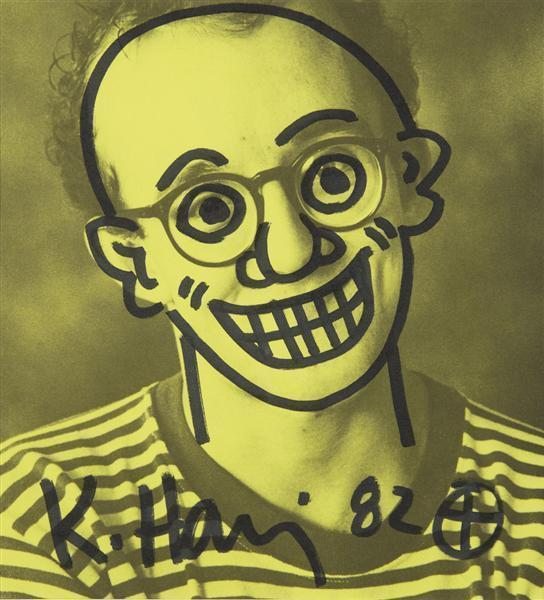 Keith Haring-Keith Haring - Untitled (Self-Portrait)-1982