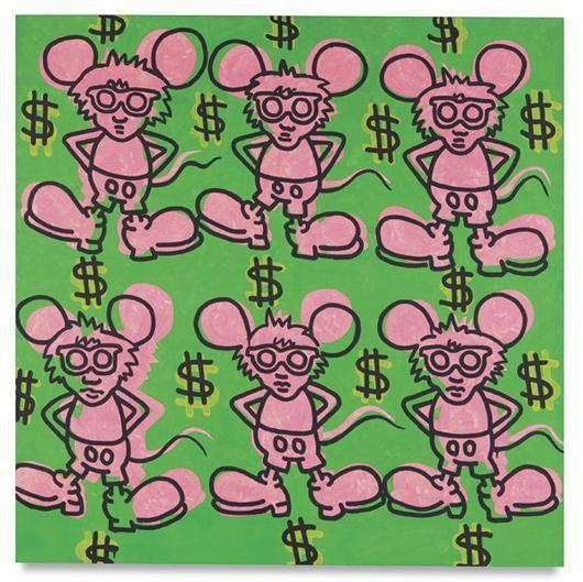 Keith Haring-Keith Haring - Andy Mouse-1985