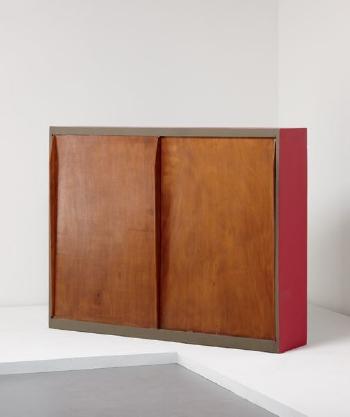 Le Corbusier-Wardrobe-room divider, from the Unite d'habitation, Marseille-1952