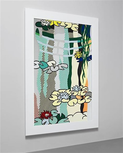 Roy Lichtenstein-Water Lilies with Japanese Bridge-1992