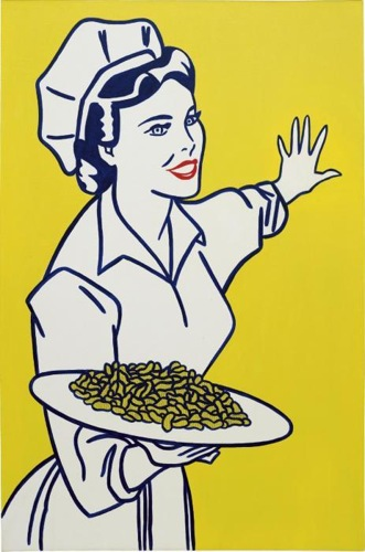 Roy Lichtenstein-Woman with Peanuts-1962