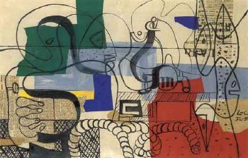 Le Corbusier-Figure et cordage-1952