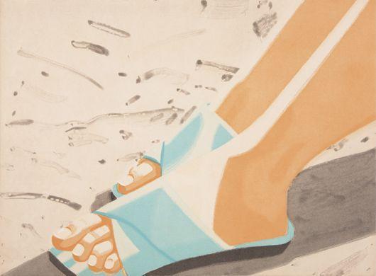 Alex Katz-Beach Sandals-1987
