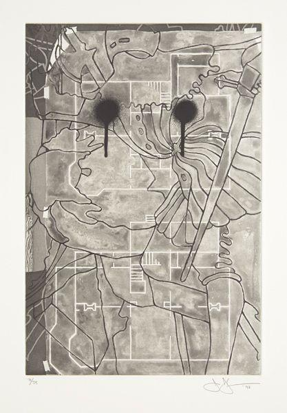 Jasper Johns-Untitled (from The Geldzahler portfolio)-1998