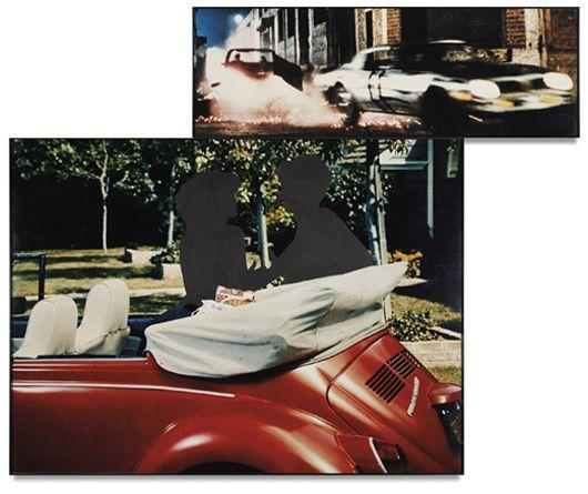 John Baldessari-Two Cars, One Red, in Different Environments-1990