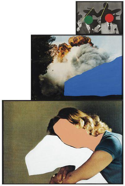 John Baldessari-Person With Pillow: Desire, Lust, Fate-1991