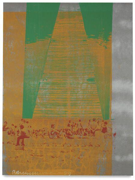 Robert Rauschenberg-Robert Rauschenberg - Wooden Rays (Galvanic Suite)-1989