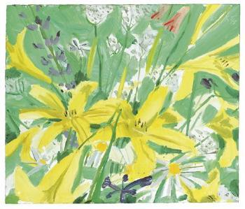 Alex Katz-Study for Ada with Flowers-1980