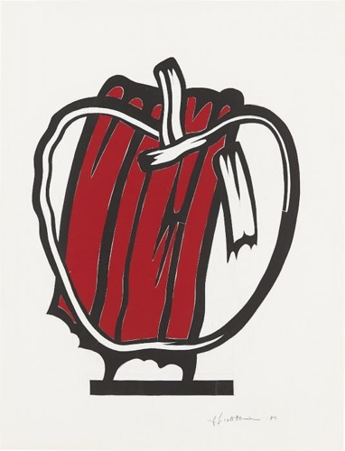 Roy Lichtenstein-Red Apple (Study)-1980