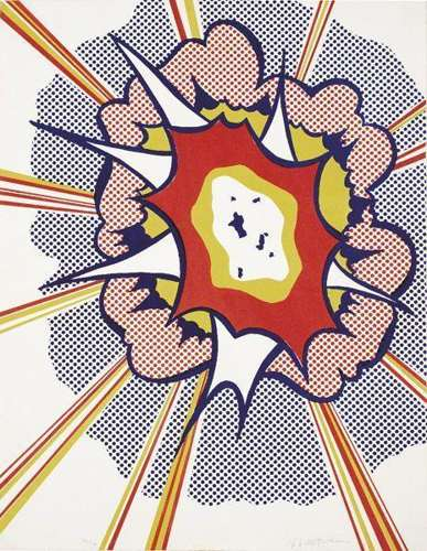 Roy Lichtenstein-Explosion (from Portfolio 9)-1967