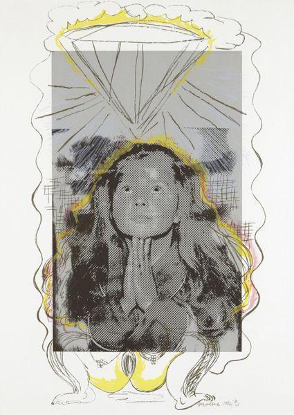 Marlene Dumas-Praying (A prayer) (Untitled)-1984