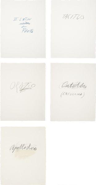 Cy Twombly-VI Latin Writers + Poets-1976