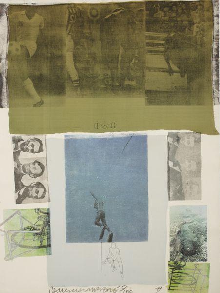 Robert Rauschenberg-Robert Rauschenberg - Shoot From The Main Stem (From Suite Of Nine Prints)-1979