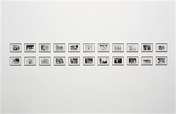 John Baldessari-A Movie: Directional Piece Where People Are Walking (Version A)-1973