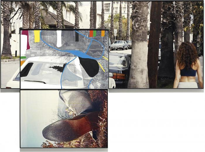 John Baldessari-The Overlap Series: Street Scene and Reclining Person (with Shoes)-2002