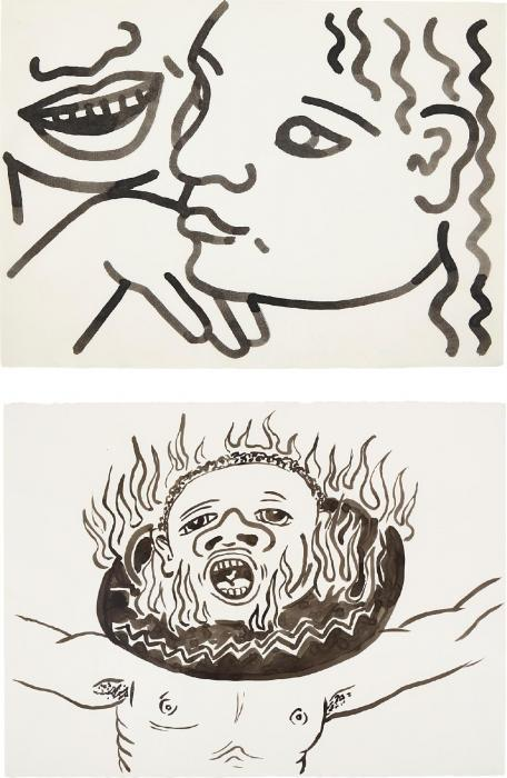 Keith Haring-Keith Haring - Untitled (Zena at 17 Years); Untitled-1986