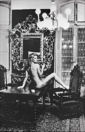 Helmut Newton-Charlotte Rampling at the Hotel Nord Oinus II, Arles-1973