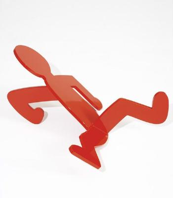 Keith Haring-Keith Haring - Untitled Breakdancer (Red Fallen Man)-1986