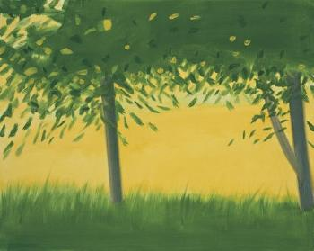 Alex Katz-Golden Field #1-2001