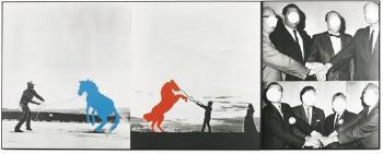 John Baldessari-Hands, Horses (To Agree)-1987