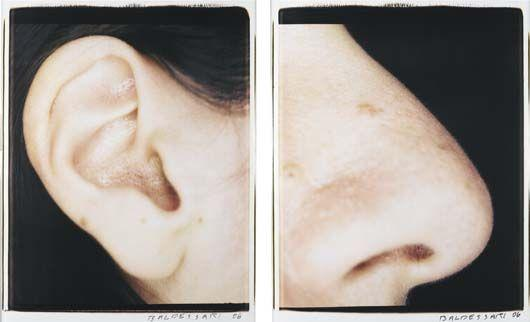 John Baldessari-Ear and Nose: Right Side, Analia-2006