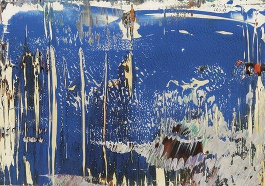 Gerhard Richter-Abstract 23.3.89-1989
