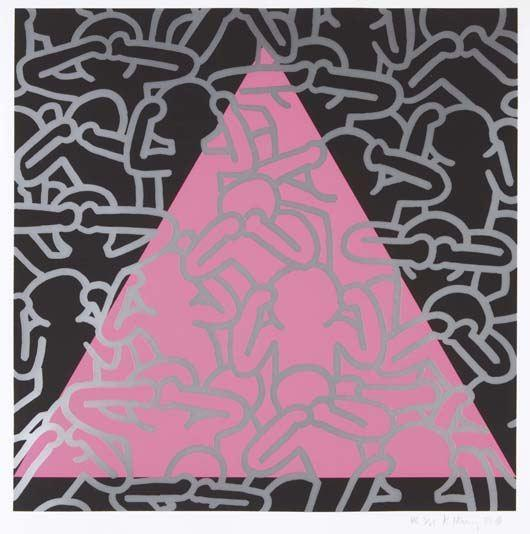 Keith Haring-Keith Haring - Silence Equals Death-1989