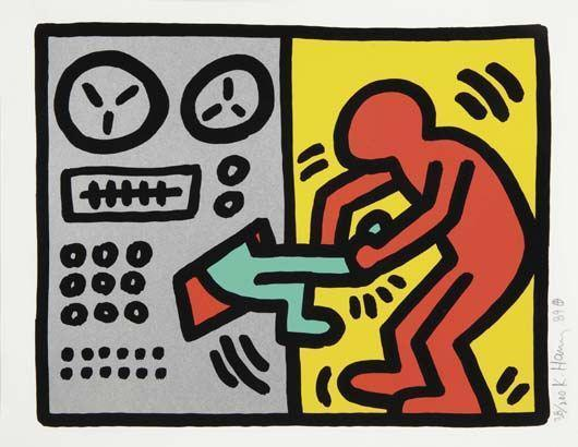 Keith Haring-Keith Haring - Pop Shop III : Untitled (plate one)-1989