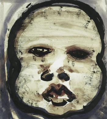 Marlene Dumas-Untitled (Face)-1992