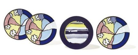 Roy Lichtenstein-Water Lilies : Service plates; Abstract : Service plate-1990