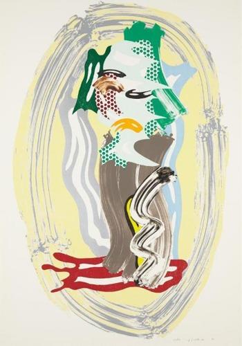 Roy Lichtenstein-Green Face-1989