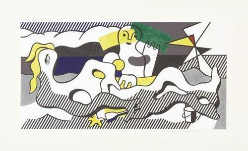 Roy Lichtenstein-Surrealist series : At the beach-1978