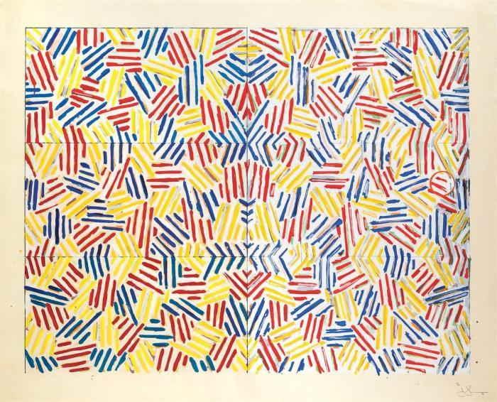 Jasper Johns-Corpse and Mirror (ULAE 169)-1976