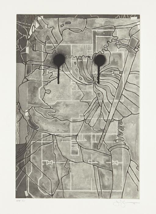 Jasper Johns-Untitled, from Geldzahler Portfolio-1997