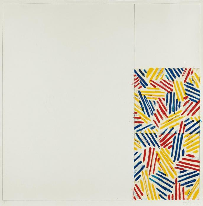 Jasper Johns-Untitled #4 (after 'Untitled 1975'), from 6 Lithographs (after 'Untitled 1975') (ULAE 177)-1976