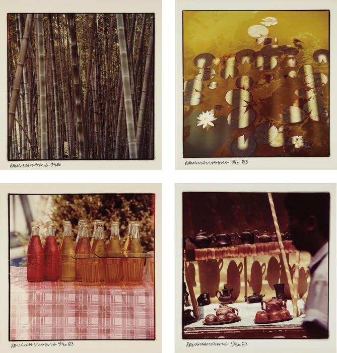 Robert Rauschenberg-Robert Rauschenberg - Bamboo/Lily Pads/Coke Bottle Still Life/Tea Pots-1983