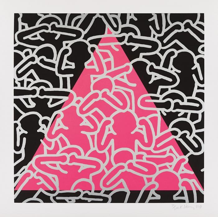 Keith Haring-Keith Haring - Silence Equals Death-1989