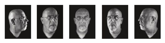 Chuck Close-Self Portrait (1-5)-2002