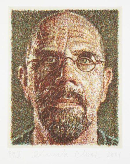 Chuck Close-Self-portrait (Scribble)-2001